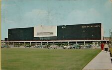 1956 CBS Television Center Classic Old Cars Los Angeles CA Postcard B35