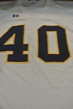 California University Game Used Football Jersey Size 48 #40 White