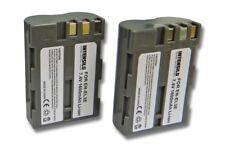 2x INTENSILO BATERIA 1600mAh para Nikon D70, D700, D70s, D80, D90, D900, DSLR D7