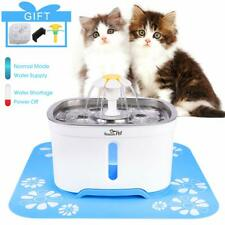2.4L Led Automatic Pet Water Fountain Cat Dog Drinking Water Dispenser w/ Filter