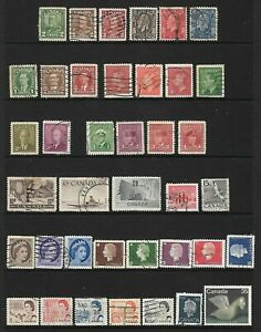 90 Canada issues including 6 George V, some George VI and several high values