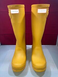 Hunter Rain Boots Original Kids Matte Yellow Size 6G/5B US