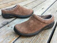 Women's Merrell Encore Bracken Brown Suede Leather Clogs 6 Slip On Mules J46834