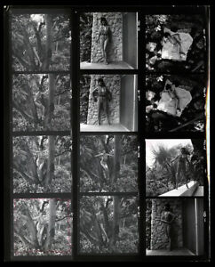 1960s Bunny Yeager Contact Sheet 12 Frames Of Photographer Model Self Portraits