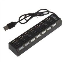 Mini Black 7Port USB 2.0 High Speed HUB ON/OFF Sharing Switch New&WS