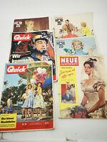 ✳️ Alte Zeitungen Konvolut 3 x Hörzu 2 x Quick 1 x Neue Illustrierte 1958 / 1959