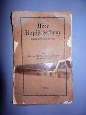 antique jewish judaica book über kopfbedeckung KIPPA rabbi horowitz germany
