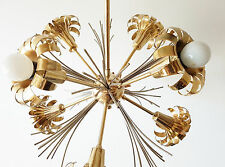 LUSTRE PLAFONNIER LAMPE SPOUTNIK SPUTNIK FLEURS 1970 VINTAGE SPACE AGE 70'S 70S