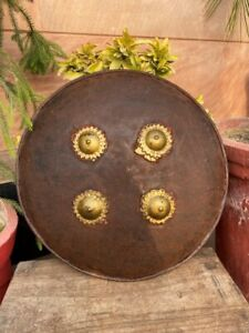 1700's Iron  Hand Hand Forged Ancient Mughal Period Indo Persian Shield Dhaal