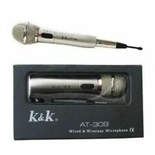 MICROFONO WIRELESS CON E SENZA FILO AT-309 MICROPHONE ARGENTATO