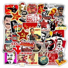 Soviet Russian Stickers Skateboard Vinyl Decals Laptop Luggage Sticker 50 Pieces