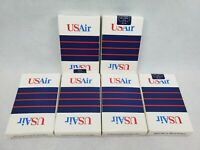 LOT OF 6 US Air USAIR Plastic Coated Playing Cards New Sealed Full Deck VINTAGE