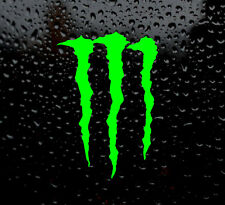2 X MONSTER LOGO DECAL FOR CAR/VAN/LAPTOP VINYL STICKER FUNNY GREEN MOTOCROSS