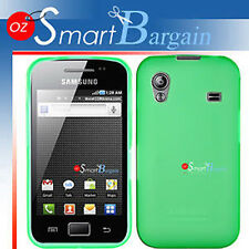 New Green Soft Gel TPU Cover Case For Samsung ACE S5830 + Screen Protector