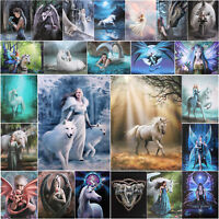 Anne Stokes Gothic Spiritual Fantasy Art Wall Hanging Canvas Wooden Plaques 26cm