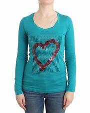 NUEVO CON ETIQUETA Love Moschino Verde Modal Top de manga larga blusa jersey IT