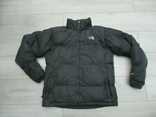 The North Face Mens 550 Goose Down Jacket M Grey Padded Insulated Zip In Nuptse