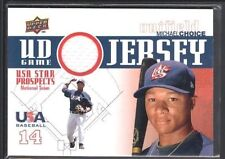 MICHAEL CHOICE 2009 UPPER DECK SIGNATURE STARS USA GAME USED JERSEY SP $12