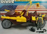 Original 1989 GI JOE Cobra PYTHON PATROL STUN Complete & Trooper Vehicle