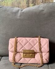 Michael Kors Sloan Quilted Chain Crossbody Nude Pink