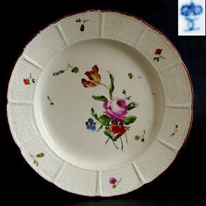 TELLER mit Blumenmalerei, Porzellan, LUDWIGSBURG um 1770 - #Slg.K02