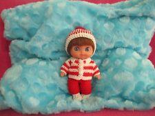"Berenguer 5-1/2"" Lil Cutesies Doll Crochet Thread Outfit Kemper Brown Mohair Wig"