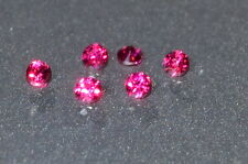 A Single Gorgeous 1.5mm IF Brilliant Cut Genuine Red Ruby