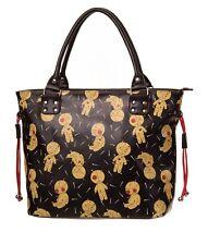 Banned Apparel Distractions Voodoo Doll & Pins Gothic Shoulder Bag Handbag Black