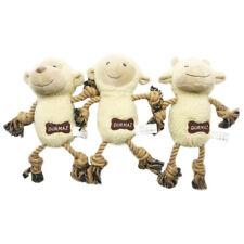 3PCS Jumbo Plush Sheep Design Dog Toys with Rope Pet Puppy Chew Toy Gift Set