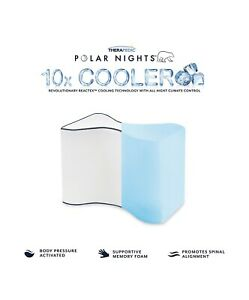 "Therapedic Polar Nights Cooling Memory Foam Knee Pillow, 10"" x 8"""