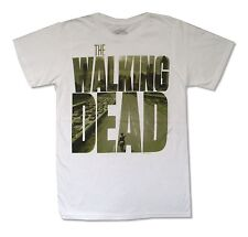 The Walking Dead City Logo White T Shirt Official Adult Horror Adult Small S