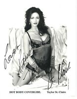 TAYLOR ST CLAIRE Adult Star autograph SIGNED  8 X 10 Black & White