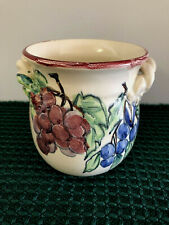 """Monicats Hand Painted Ceramic Plater - Canada - 5 1/2"""""""