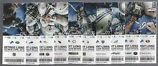 2015 NFL DETROIT LIONS FULL UNUSED FOOTBALL TICKETS - ENTIRE HOME SEASON