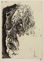 HORST JANSSEN - Selbstporträt elegisch - Radierung 1982
