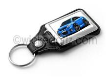 WickedKarz Cartoon Car Vauxhall Vectra VXR/SRi in Blue (black alloys) Key Ring