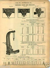 1909 PAPER AD Brown Portable Crane Hoist Car Engine Drum Hoisting Engines