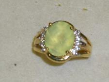 Phrenit Topas 9 K Gelbgold Solitär Ring