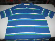 Rocawear Classic Navy Polo Shirt 3XL Authentic Multicolor Striped Blue