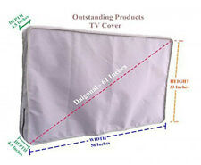 Weather Resistant Lined Protective Outdoor TV Cover For LG 60UJ7700 HD TV Gray