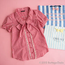 INGNI Gingham check Tie Blouses Dress Hime gyaru Lolita Kawaii Shibuya109