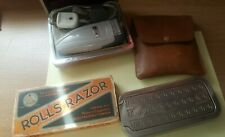 Lot of 3 Rolls Razor Made in England in Padded Box Chrome/ Remington 6 CONTOUR
