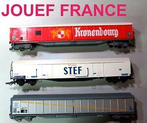 JOUEF FRANCE LOT DE 3 WAGONS   COMME NEUFS