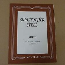 recorder CHRISTOPHER STEEL Suite for descant recorder and piano, score + parts