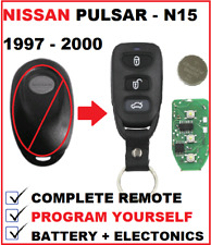 NISSAN PULSAR N15 REMOTE KEYLESS KEY FOB 1997 1998 1999 2000 (w/o metal edges)