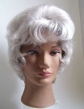 PAULA YOUNG Wig Short Grey White Hair Curly Lots of Body Layered Wig New