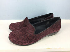 Dansko oksana Burgundy Leather Embossed Loafer 38 7.5 8 Career Casual Comfort