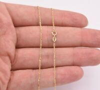 1.2mm Figaro Link Chain Necklace Real 10K Yellow Gold