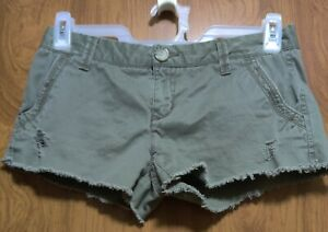 Aeropostale Distressed Green Shorts Size 5/6