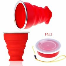 Silicone Foldable Cup Mug Outdoor Travel Camping Collapsible Bottle USA SELLER